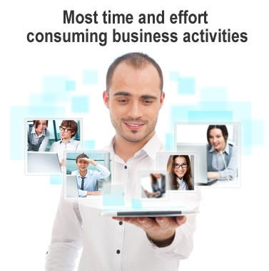 Most time and effort consuming business activities